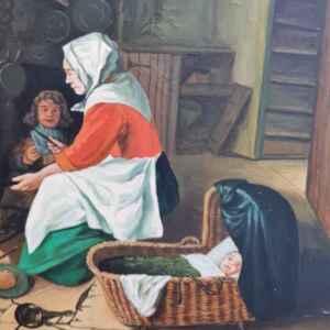 Картина с маслени бои на платно от P. Guntlisbergen, 20th century,  внос от Нидерландия