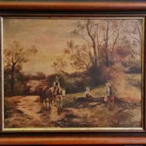 Картина с маслени бои на платно от T.van Reeth, 20th century,  внос от Нидерландия