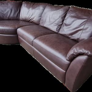 Ъглов диван от естествена кожа,  внос от Нидерландия