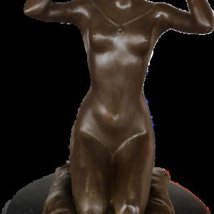 Статуетка от бронз и гранит, нова,  внос от Германия