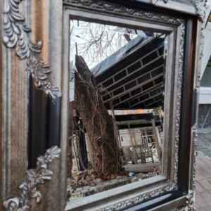 Огледало с фасет и барокова рамка, ново, внос от Германия.