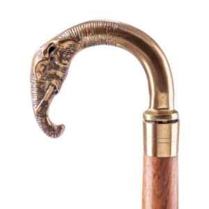 Бастун,месинг с дърво в различни мотиви на дръжката като: слон,куче,лебед и др., Нови, внос от Германия