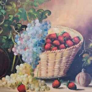 Картина с маслени бои на платно от известен английски художник Temly, 20th century, внос от Нидерландия.