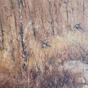 Картина с маслени бои на платно от известен нидерландски художник Schijven, внос от Нидерландия.