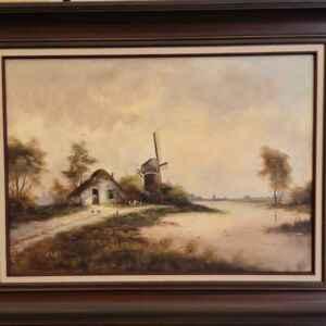 Картина с маслени бои на платно от известен нидерландски художник M. Reyes, 20th century, внос от Нидерландия.