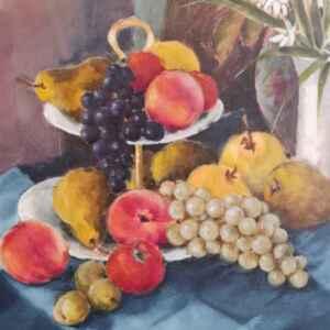 Картина с маслени бои на платно от известен белгийски художник Lamber, 20th century, внос от Нидерландия.
