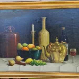 Картина с маслени бои на платно от известен нидерландски художник E.L. Jaartsvelo, произведена през 1968 год. в Нидерландия.