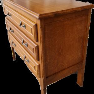 Шкафче стил Луи 14-ти с три чекмеджета,  дъб  внос от Белгия