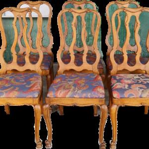 Комплект от 6 бр., трапезни столове, внос от Белгия