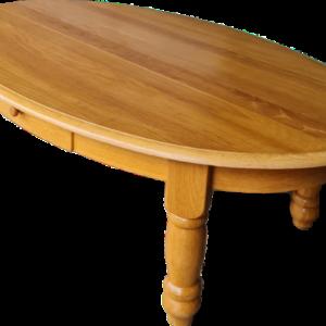 Холова овална маса – светъл дъб с две чекмеджета,  внос от Нидерландия