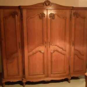 Комплект спалня стил Луи 14-ти, дъб внос от Белгия