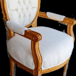 Ново кресло с подлакътник,  дъб-дамаска, внос от Нидерландия