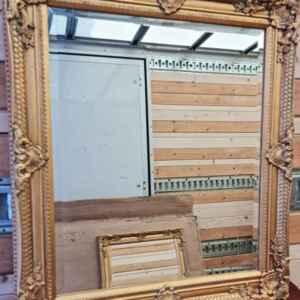 Ново огледало с фасет от 25 мм., в златен бароков ефект, внос от Германия