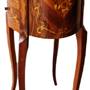 Шкафче овал, стил барок с 3 чекмеджета,  внос от Белгия.