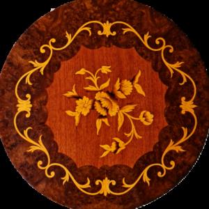 Шкафче в стил барок с три чекмеджета, ново с елементи от бронз внос от Нидерландия.