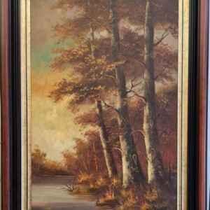 Картина с маслени бои на платно от известен нидерландски художник Roelandt внос от Нидерландия.