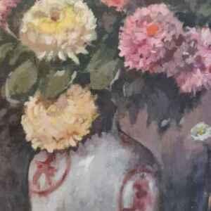 Картина с маслени бои на платно от известен нидерландски художник J. De Wit внос от Нидерландия