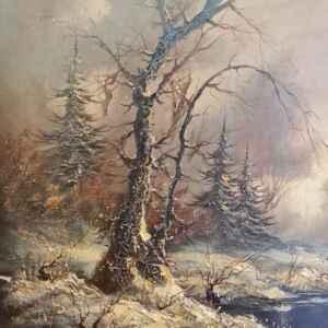 Картина с маслени бои на платно от известен нидерландски художник Cornelis Bruinsmo, внос от Нидерландия.