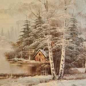Картина с маслени бои на платно от известен английски художник Barry внос от Белгия.