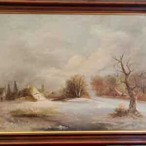 Картина с маслени бои на платно от известен нидерландски художник Frits Meijer внос от Нидерландия.