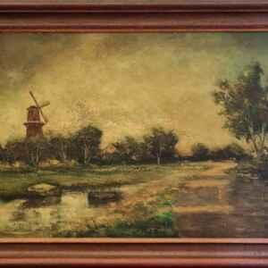 Картина с маслени бои на платно от известен нидерландски художник Jan Vlaardingen внос от Нидерландия.