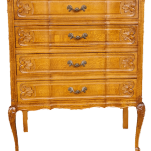 Шкаф стил Луи 14-ти с четири чекмеджета от дъб внос от Белгия.