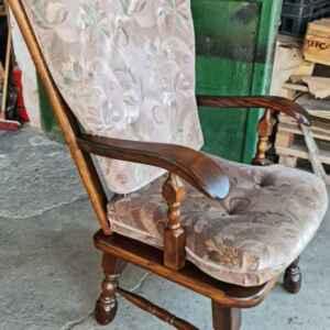 Кресло от дъб и дамаска внос от Нидерландия
