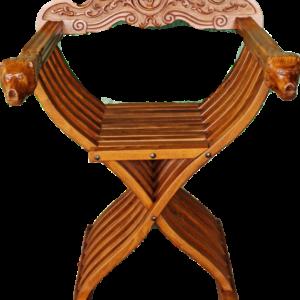 Нов сгъваем стол с два лъва от орех,  внос от Нидерландия.