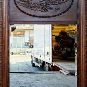 Огледало с фасет и дърворезба – дъб   внос от Нидерландия