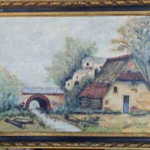 Картина с маслени бои на платно от Нидерландия, 20th century.