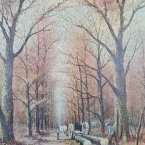 Картина с маслени бои на платно от известен нидерландски художник H. Sanders, 20th century внос от Нидерландия.