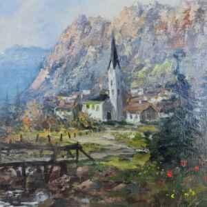 Картина с маслени бои на платно от известен нидерландски художник Joop Smits (1938-2014) внос от Нидерландия.