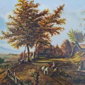 Картина с маслени бои на платно от известен нидерландски художник R. Soetens , 1981 год., внос от Нидерландия.