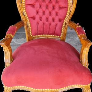 Кресло с подлакътник,  ново от дъб-дърворезбовано внос от Нидерландия.