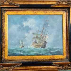 Класическа картина с маслени бои на платно от Нидерландия