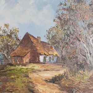 Картина с маслени бои на платно от известен германски художник Reichle, 20th century внос от Нидерландия