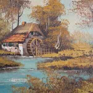 Картина с маслени бои на платно от известен германски художник G. Hesbeda,20th century  внос от Нидерландия.