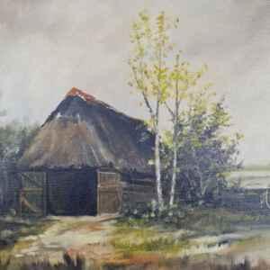 Картина с маслени бои на платно от известен нидерландски художник h.v.b.Booman, 20th century внос от Нидерландия