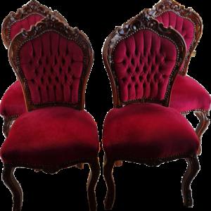 Трапезни столове дърворезбовани, нови внос от Нидерландия.
