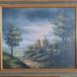 Картина с маслени бои на платно от известен белгийски художник Paul,20th century внос от Нидерландия.