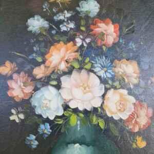 Картина с маслени бои на платно от известен нидерландски художник Robert Cox, 20th century внос от Нидерландия.