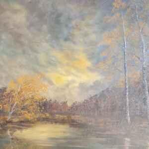 Картина с маслени бои на платно от известен нидерландски художник Classen, 20th century внос от Нидерландия.