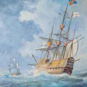 Картина с маслени бои на внос от Нидерландия.