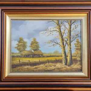 Картина с маслени бои на платно от известен нидерландски художник J. Kok, 20th century внос от Нидерландия.