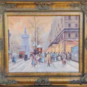 Картина с маслени бои на платно внос от Нидерландия.