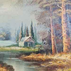 Картина с маслени бои на платно от известен нидерландски художник Samson, 20th century внос от Нидерландия.