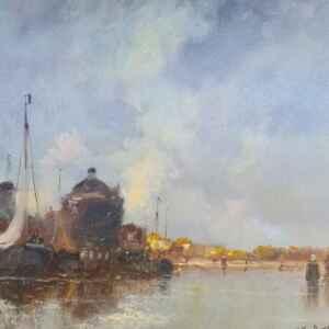 Картина с маслени бои на платно от известен нидерландски художник Jean van Dongen, (1883-1970) внос от Нидерландия.