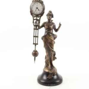 Мистеричен табелен часовник нов от бронз с мотив – жена внос от Нидерландия